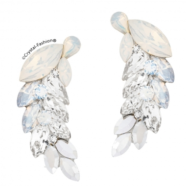 Dancing Feather 3,6cm s Clear-WhiteOpal-MoonLight