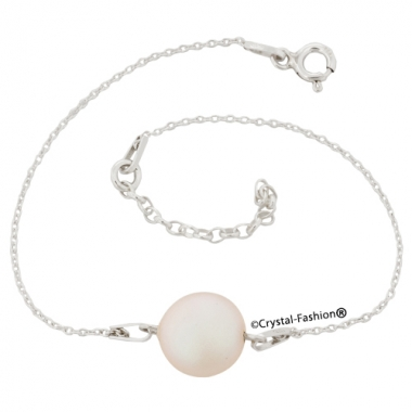 Silver Coin Pearl 10 Bracelet