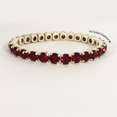 Chaton Elastic Bracelet (ss29/6mm) Ruby