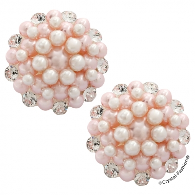 Alma 2,6cm Clp-Pin Clear-WhitePearl-RosalinePearl