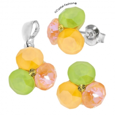 Tripple Xilion 11/11mm s Buttercup-PeachDelite-Lime+Jonq