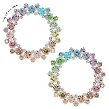 Round Lace Earrings 4,7cm