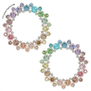 Round Lace Earrings 4,7cm s ColorMix