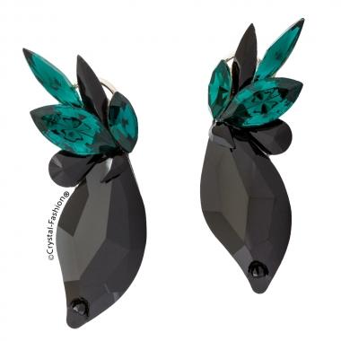 Leaf Lora 4,5cm Clp-Pin Jet-Emerald
