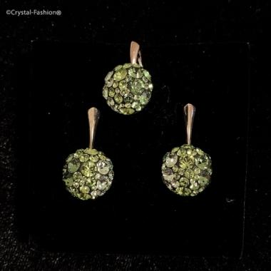 Chaton Ball 12/12 Lvbck Chrysolite-Peridot-Erinite