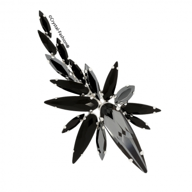 Star Burst Brooch SilverNight-Jet-JetHematite