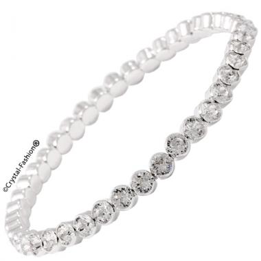 Bezel Elastic Chaton Bracelet ss17 4mm