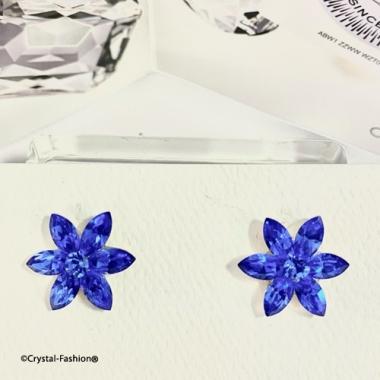 Navette Flower 8 (15mm) s Sapphire