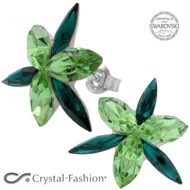 Navette Opus 2cm s Peridot-Emerald