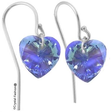 Heart p 10 Wire bumb SapphireAb