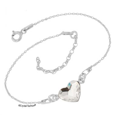 Silver Heart 10 gl Bracelet