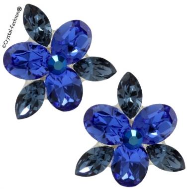 Simple Leaf Tripple Oval 1,8cm s Sapphire-DenimBlue
