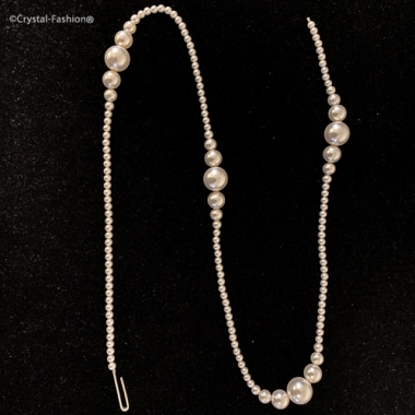 """Pearly String """"4"""" 72cm WhitePearl"""