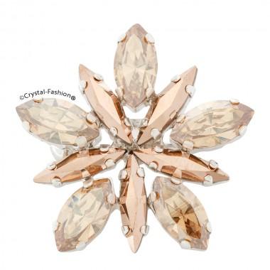 Star Glitter Brooch 2,8cm