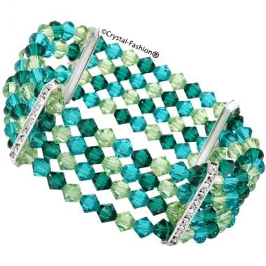 Bicone 4 Row Elastic Bracelet