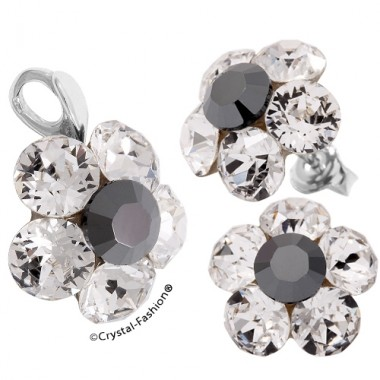 Chaton Flower 15/18mm (ss29/34) s Clear+Color