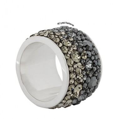 Tube Ring Black Cement 1,6cm