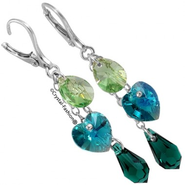 Pear-Drop-Heart Madame Earrings 5,2cm
