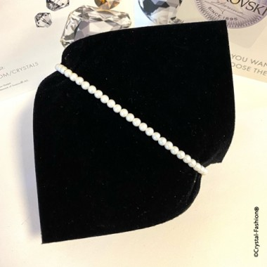 Elastic Pearls 3mm Pearlescent