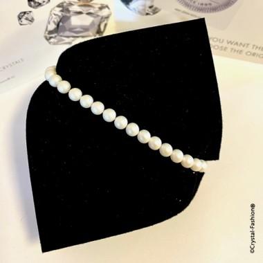 Elastic Pearls 5mm Pearlescent