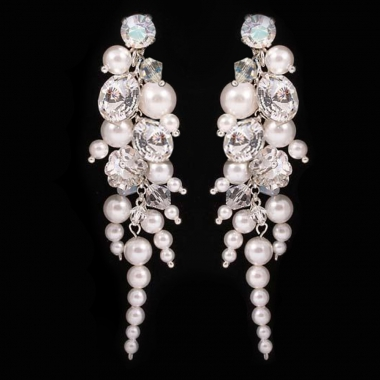 Bunched Crystal-Pearl Waterfall 7,4cm
