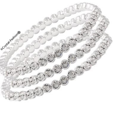 Bezel Elastic Chaton Bracelet ss17 (4mm)