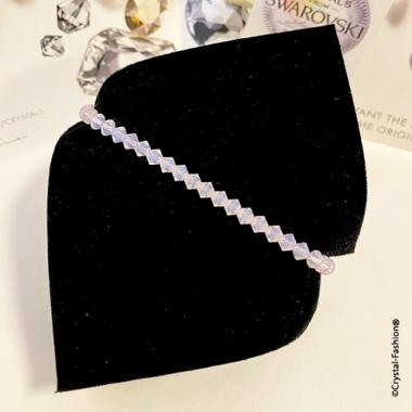 Elastic Bicone 4 Bracelet RoseWaterOpal