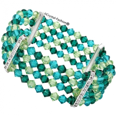 4xBicone Row Elastic Bracelet