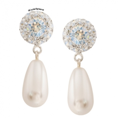England Pearl Drop 3,1cm s Clear-WhPearl