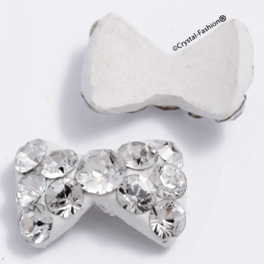 Crystals for nails: White Bow Tie U05 (8mm)