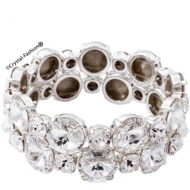 Double Elastic Rivoli Chaton Bracelet (10-29)