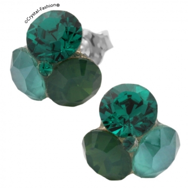 Tripple Xilion 11mm s RoyalGreen-PalaceGreenOpal-Emerald+Emerald