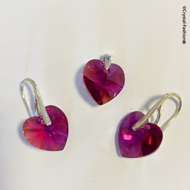 Heart p 14/14 Wire Fuchsia