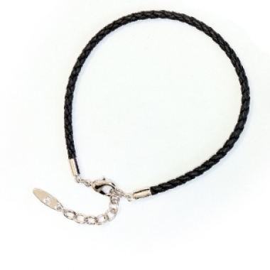 Leather Bracelet - 17 cm Gold plated