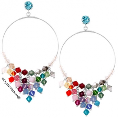 Ioana Bicone Round Earrings 8,4cm