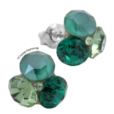 Tripple Xilion 11mm s Erenite-RoyalGreen-Emerald+Peridot