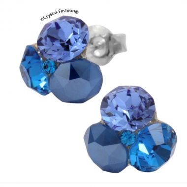 Tripple Xilion 11mm s Sapphire-CapriBlue-RoyalBlue+Sapphire