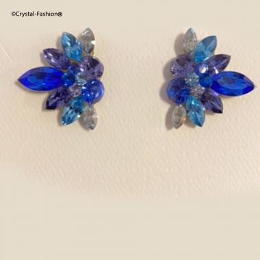 Fannina 2,8cm s Aqua-CapriBlue-LtTurquoise-Sapphire-SilverSh-Tanzanite