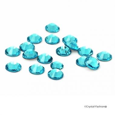 Xilion Rose fb ss8 (2,4mm) LtTurquoise HotFix
