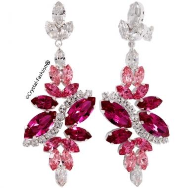 Navette Berry Earrings 6,6cm