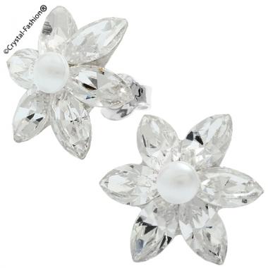 Pearl Navette Flower 8 (15mm) s