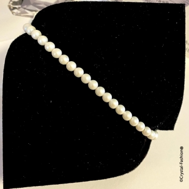 Elastic Pearls 4mm Pearlescent