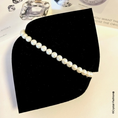 Elastic Pearls 5mm Pearlescent