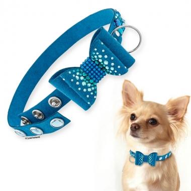 Doggy Bow Tie 24cm Blue
