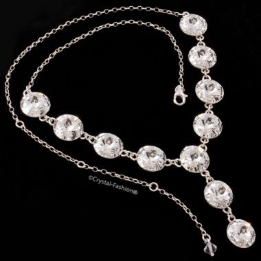 Rivoli r 12 gl Y necklace Clear