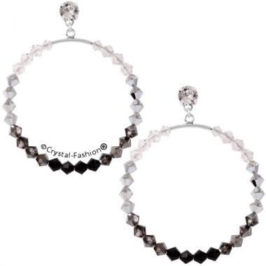 Bicone Round Earrings 6,2cm