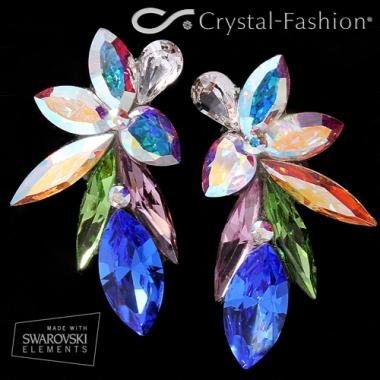 Sabrina Dance Earrings 3,6cm Clear-AB-LtAmeth-Perid-Sapph