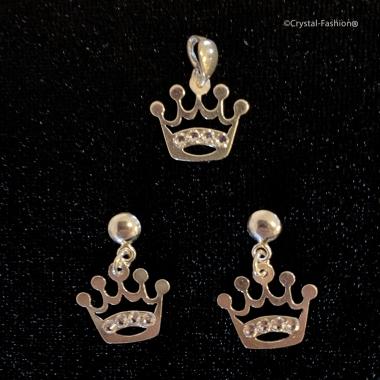 Sterling Crown 13 Freezbe Earpin Clear