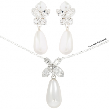 SimpliCity Drop Pearl Set