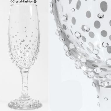 Strewed Champagne Glass